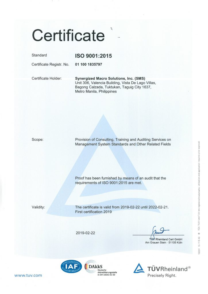 Synergized Macro Solutions, Inc. (SMS) ISO Certificate_page-0001